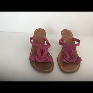 Shoes - Handmade Italian all leather sandals pink sz39/us9